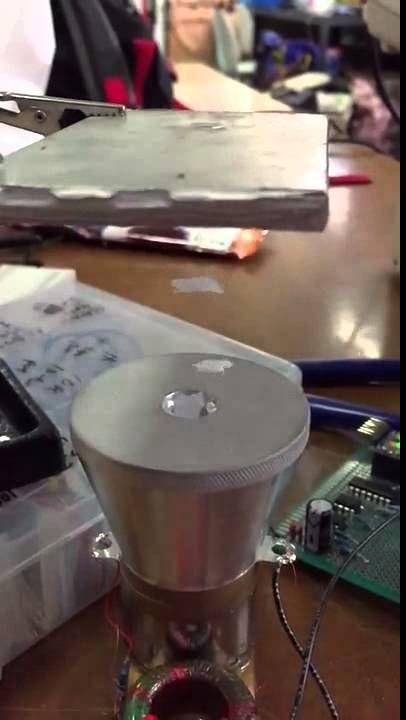 Slow motion acoustic levitation by Sean