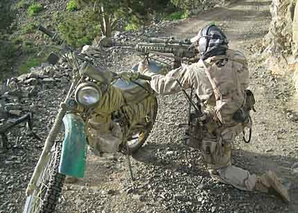 Special Forces Soldiers used motorcycles in Afghanistan to increase their mobility.