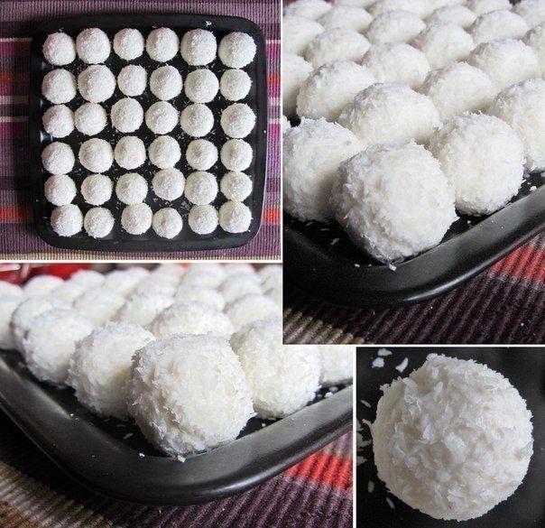 Nepečené kokosové guličky