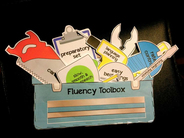 Mrs. Ludwig's Speech Room: Fluency Toolbox for Stuttering. A visual for teaching fluency strategies!