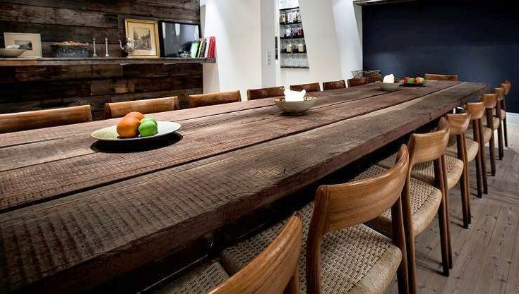 Thors Gaia rustic dining table, reclaimed wood from a danish harbour is made in to bespoke furniture. Every piece is unique.  #reclaimedwoodtable #imperfectbydesign #rustictable #sustainablefurniture #rustikkeborde