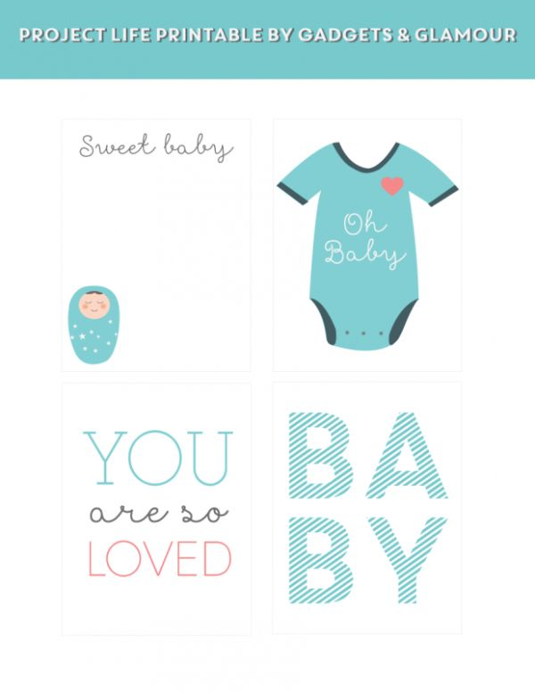 Project Life: Baby Boy Freebie