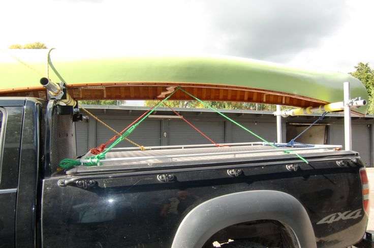 DIY pickup rack with aluminium scaffolding and fittings