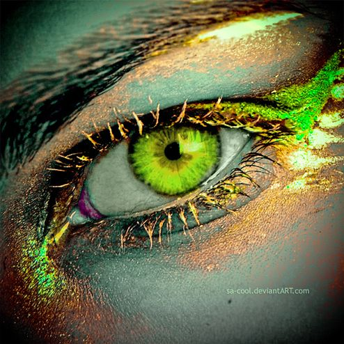 Green eye 30 Stunning, Absolutely Magical Photo Manipulations Focusing on Human Eye