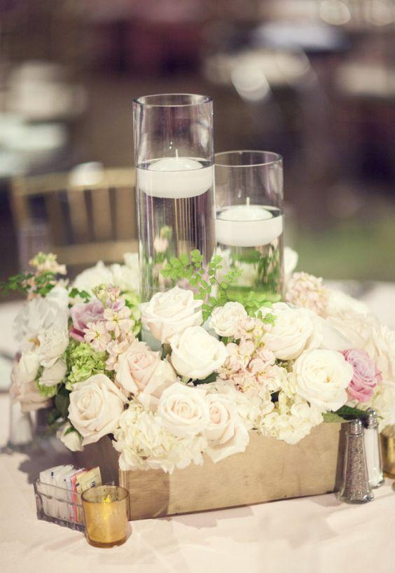 Featured Photographer: Three Nails Photography; Wedding reception centerpiece idea.