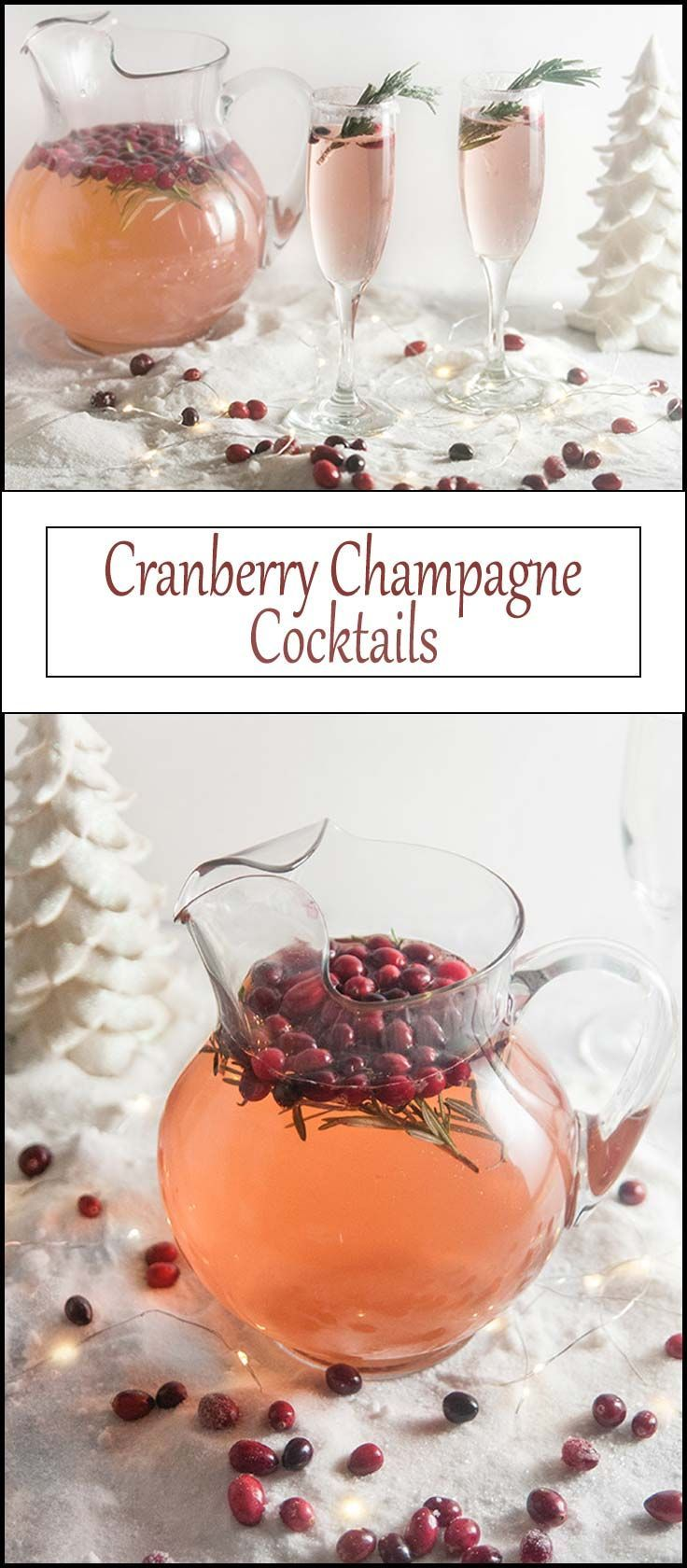 Christmas Cranberry Champagne Cocktails from www.seasonedsprinkles.com