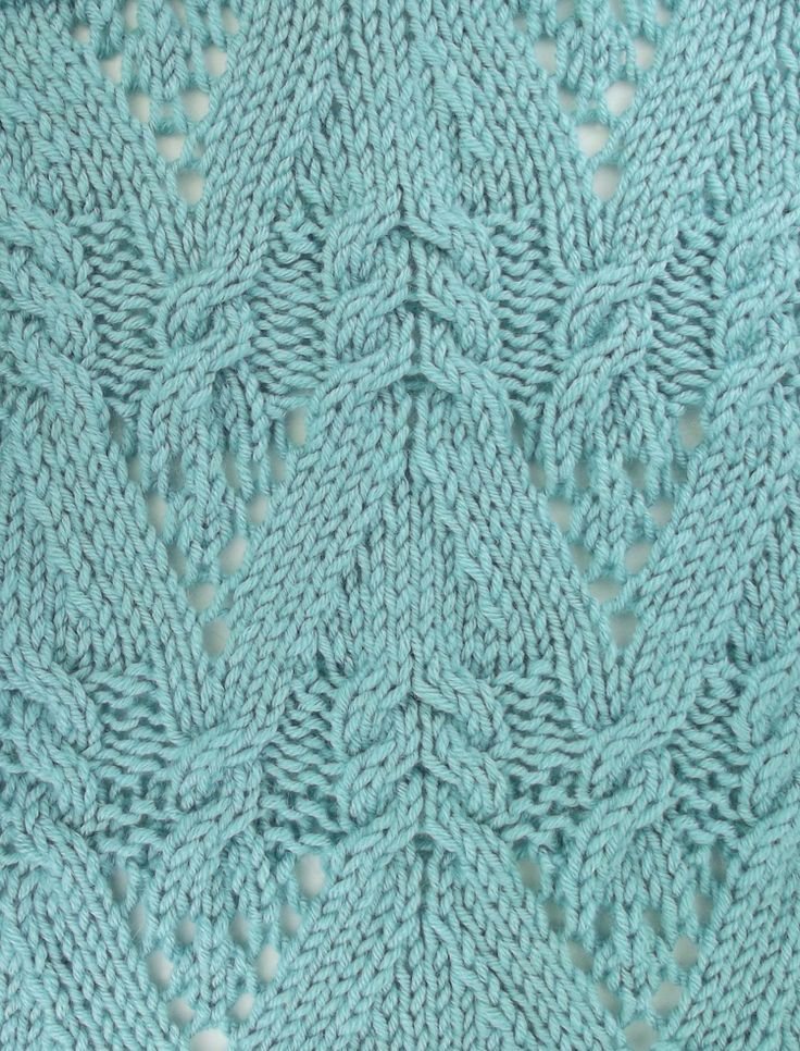 Cable Lace Knitting Stitches : 16 best images about June 2013 Knitting Stitch Patterns on Pinterest Cable,...