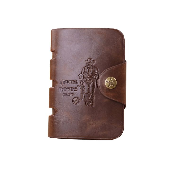 Hot Sale European Genuine Leather Men Purse Short  Front Snap Fastener Mens Designer Wallet Zipper Coins Vintage Men's Wallets
