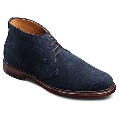 Blue Suede Men's Winter Dress Boots from Allen Edmonds - Alpha Male Style Menswear and Grooming