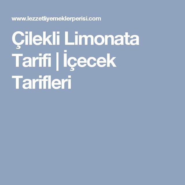 Çilekli Limonata Tarifi | İçecek Tarifleri