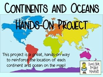 This is a fun, hands-on project that will help your students learn the locations of the continents and oceans of the world on a map.  Directions and pictures are included!