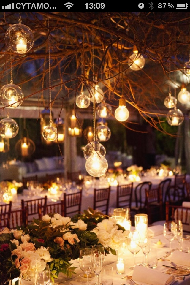 I. Love. These. LIGHTS. #Beautiful Garden wedding / reception ideas  Rob & Jessica 2014