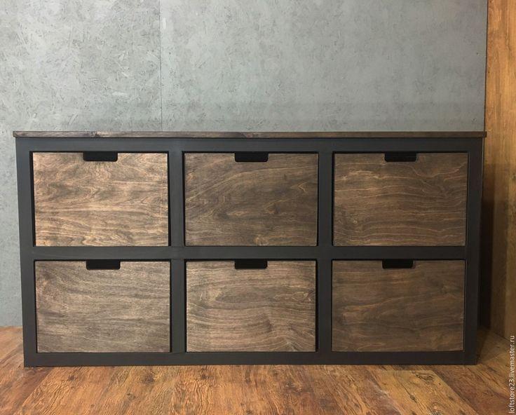 Купить Тумба BISMARCK - коричневый, тумба, дизайнерская мебель, мебель из дерева, мебель из массива, лофт