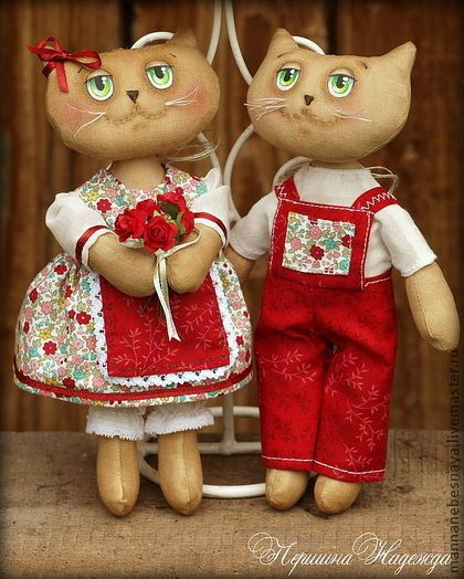 Ароматизированные куклы ручной работы. Ярмарка Мастеров - ручная работа Летние влюблённые котики. Ароматизированная Кофейная Игрушка. Handmade.