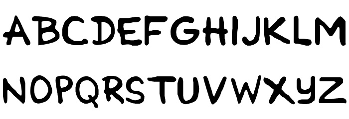 Cartoonist Simple Font UPPERCASE