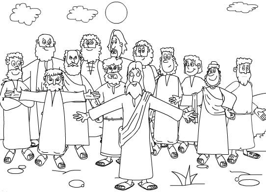 Twelve Disciples Coloring Page Pages Picture