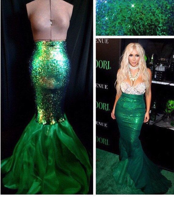 High Waist Sequin Sexy Mermaid Skirt Costume by SPARKLEmeGORGEOUS