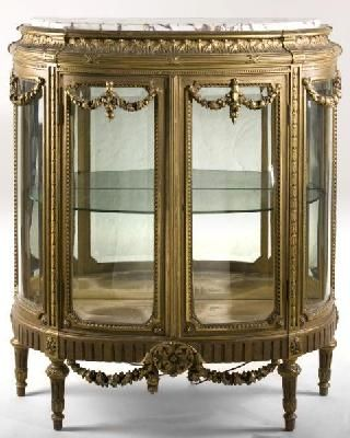 French Louis XVI Style Marble Top Vitrine  late 19thC. 222 best my kind of furniture images on Pinterest   Antique