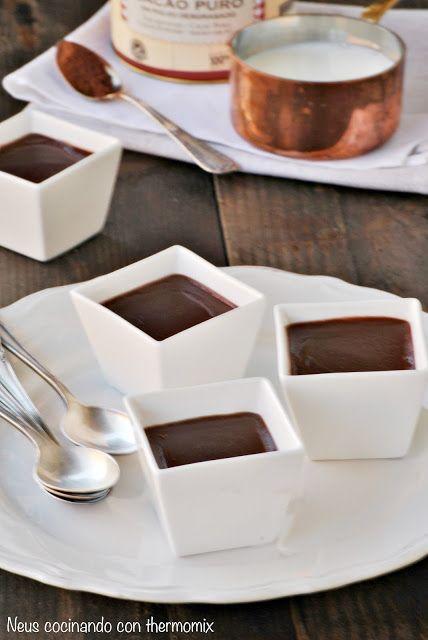 Natillas con cacao puro Valor thermomix