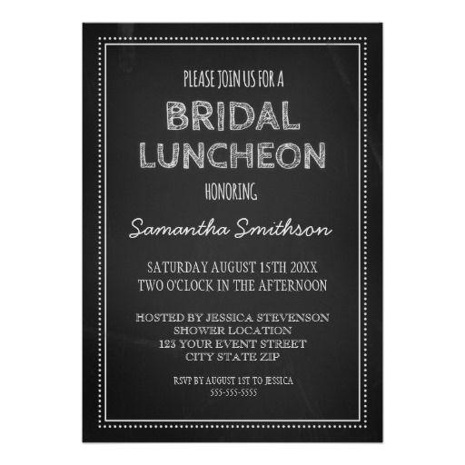 Chalkboard Lunch Invitation Cards