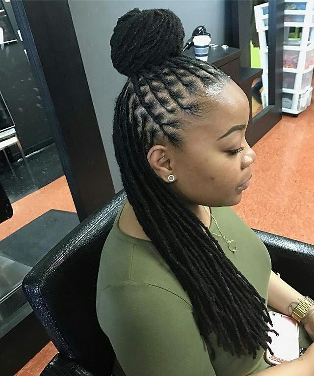 braids styles with hair best 25 locs styles ideas on loc updo 4362