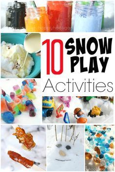 Here are 10 fun and creative snow play ideas that can be done indoors or out! These will get you and your kids through the last few weeks of winter! - Happy Hooligans