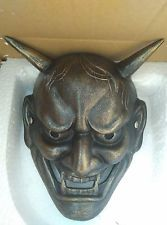 Japanese Buddhist Evil Oni Noh Hannya Mask