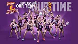 Mission Queensland Firebirds 2015.... YAY!!!