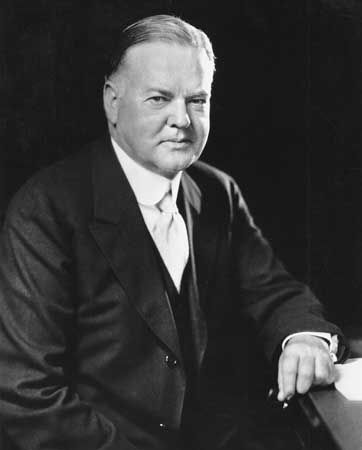 President #31 - Herbert C. Hoover (1874-1964) was born on August 10, 1874, in West Branch, Iowa. Hoover served from 1929 until 1933, during the first years of the Great Depression which started in October, 1929, the NY Stock Exchange prices fell dramatically, many banks closed). By 1933, 13 million were jobless and had lost their savings. Although he tried to help the economy, much of America thought that he wasn't doing enough. In 1932 he lost his re-election bid to FDR. He died Oct 20…