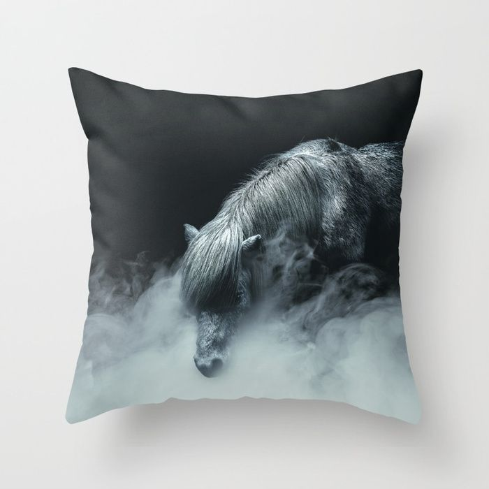 Things change Throw Pillow by HappyMelvin. #horse #photography #fineart #pillows