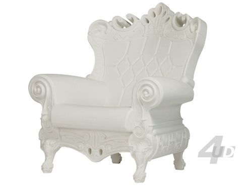 Fauteuil Queen of Love Wit - Armstoelen - Zitmeubilair