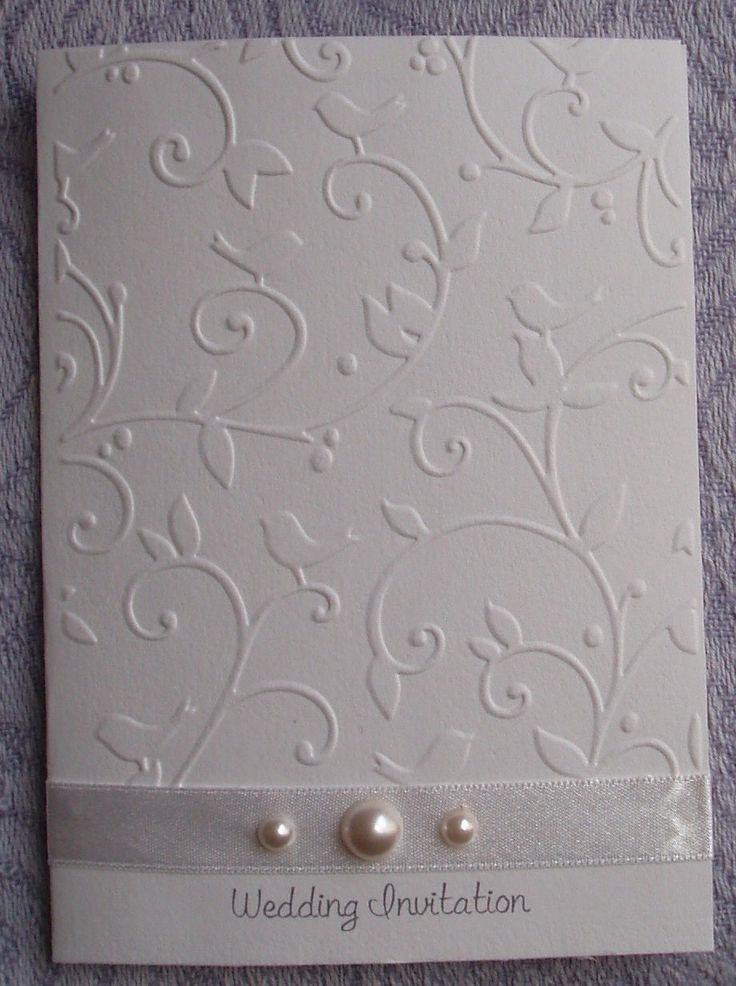 bed bath and beyond wedding invitation kits%0A Elegant Embossed Vines and Bird Wedding Invitations by LKsInvitations on  Etsy https   www