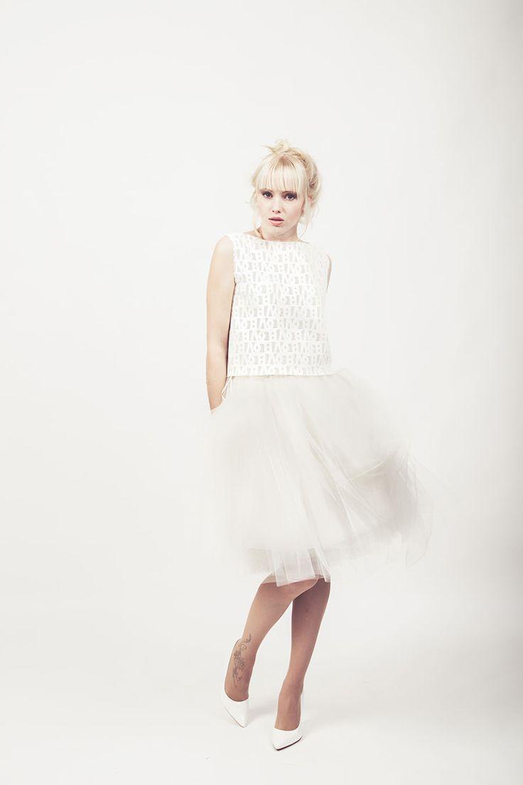 ***NIKAY-TOP***  #bridal #top #creme #lasercut #schrift #love #lässig #shirt