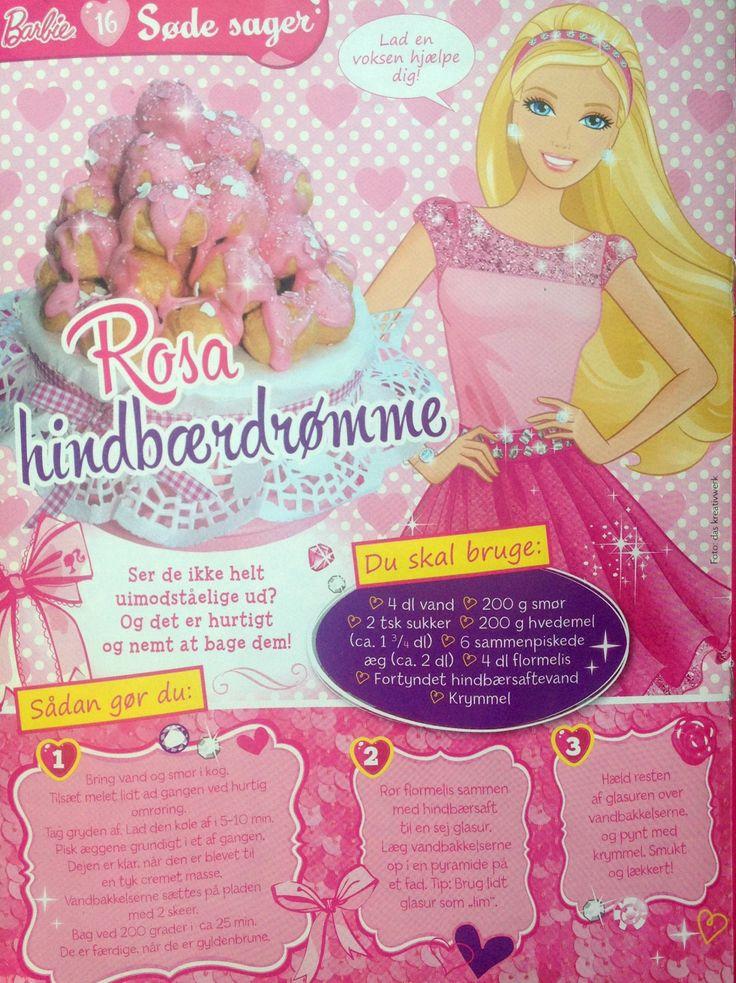 Hindbærvandbakkelser fra Barbie