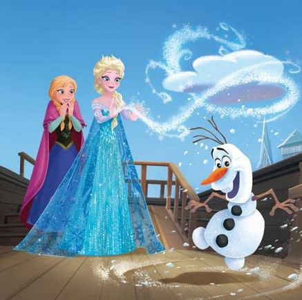 Official frozen illustrations spoilers frozen photo - Olaf and anna ...