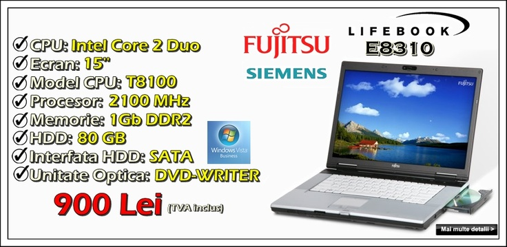 Laptop second hand Fujitsu Siemens Lifebook E8310 la 900 lei