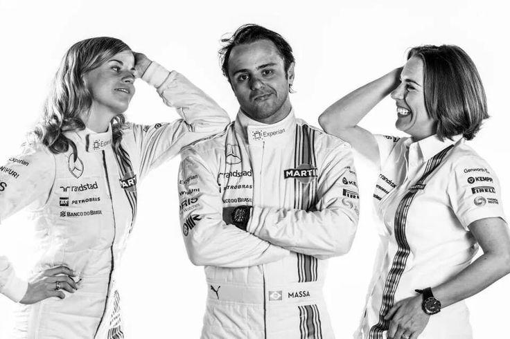 Susie wolff, Felipe Massa and Claire Williams