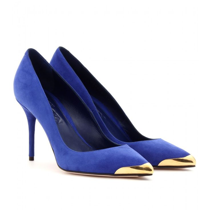 Dazzling Blue: Alexander McQueen Dazzling Blue Suede pumps - pumps - shoes - Luxury Fashion for Women / Designer clothing, shoes, bags – selected by http://munich-and-beyond.com/