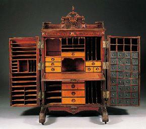 Renaissance Revival Walnut Patent Desk. Even More Cubbies Than A Secretary!