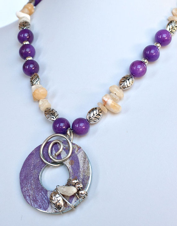 Purple Loveliness Washer Necklace by JewelryByJamille on Etsy, $22.00