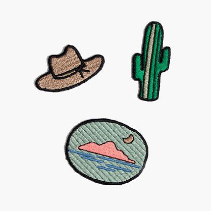 embroidered sticker patch set