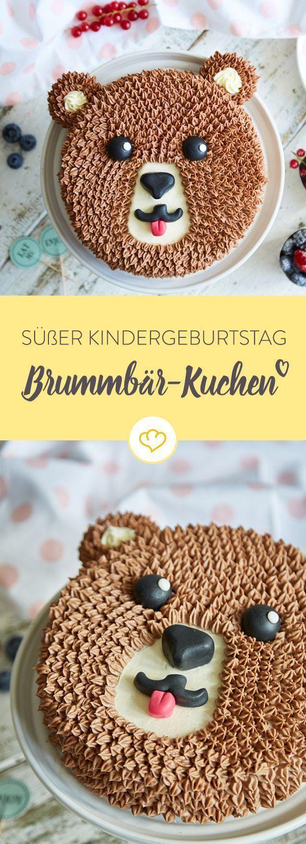 Kindergeburtstag mit Brummbär-Torte – Kindergeburtstag: Deko, Rezepte, Spielideen, Einladungskarten