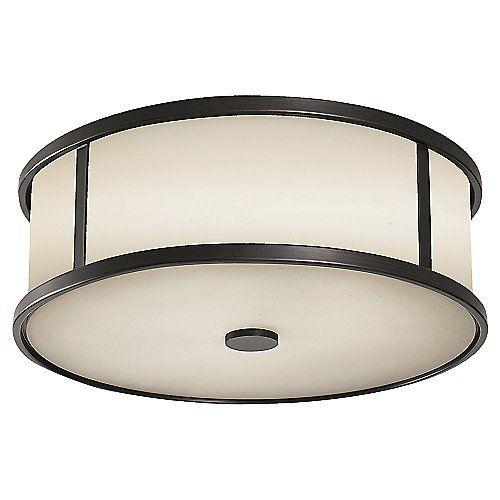 "Dakota Flushmount by Feiss at Lumens.com $168.00 takes two 60 watt bulbs. 13.5"" diameter"