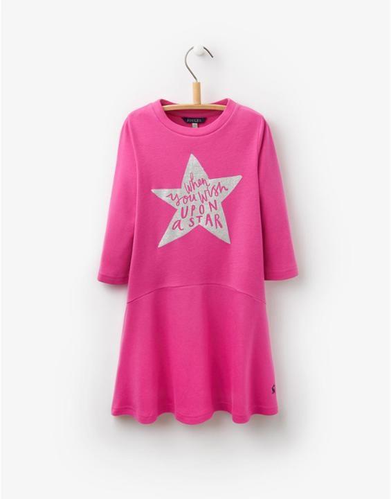 JNR MATILDA Girls Pink Jersey Dress 'Wish upon a star'