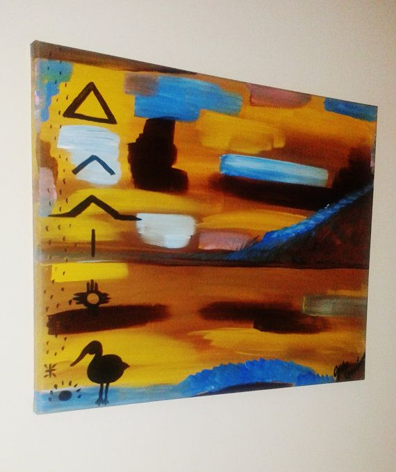 Southwestern Painting Abstract Desert by FaithEarthAndSoul on Etsy