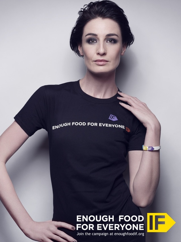 Model Erin O'Connor supports the Enough Food For Everyone IF campaign: http://enoughfoodif.org. But have YOU signed up to urge world leaders to take action on hunger? (Photo: Steven Jackson / Save the Children)