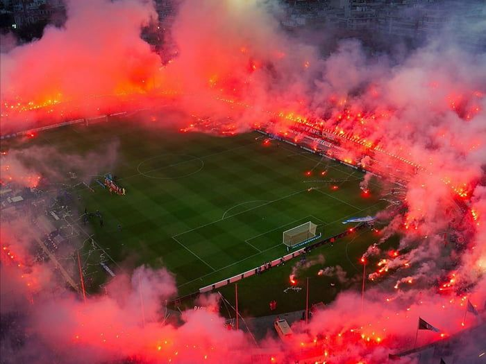 This is what happens when tens of thousands of people bring road flares to  a soccer stadium | Soccer stadium, Soccer photography, Ultras football