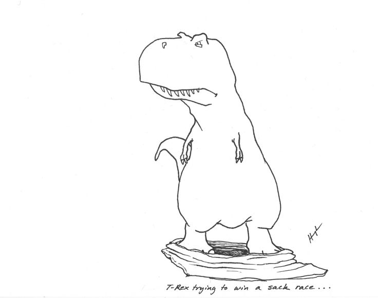 Why didn't the T-rex get on the Noah's Ark?