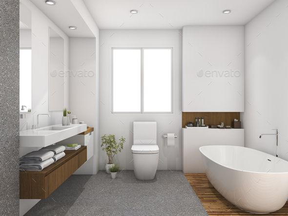 3d Rendering Wood And Tile Design Bathroom Near Window In 2020 Bathroom Design Bathrooms Remodel Small Bathroom Paint