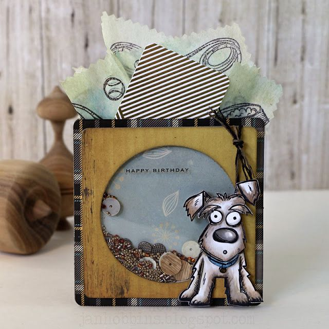 Shake Up Some Fun with Crazy Dogs Pocket Card - Jan Hobbins